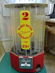 Table Top Peanut Butter Chocolate Cups Vending Machine Coin Operated