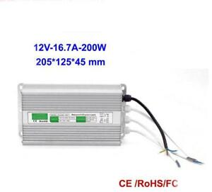 Dc 12v 16 7a 200w Led Driver Waterproof Ip67 Power Supply For Led Strip Lights