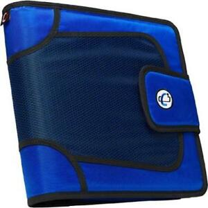 Case it Closure 2 Blue 3 ring Tab File Binder Office Organizer New