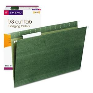 Smead Hanging File Folder With Tab 1 3 Cut Adjustable Tab Legal Size Standard