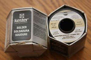 Kester Solder Sn60pb40 Two One Pound Spools 50 245 1 57mm 062