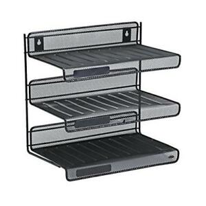 Rolodex Mesh Collection 3 tier Office Desk Letter Shelf Storage Tray Organizer