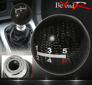 Universal Jdm Vip 5 speed Round Ball Racing Shift Knob Lever M8 M10 M12 Carbon