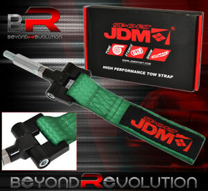 For 04 07 Infiniti G35 Jdm Vip Tow Towing Hook Strap Thread Adapter Kit Green