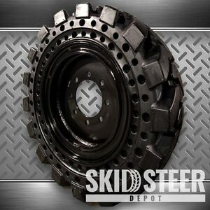 Flat Proof Skid Steer Tires 10 16 5 with Rim Jcb Cat