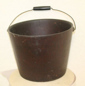 Antique Fire Bucket Firefighter United Indurated Fibre Co Portland Me Wood