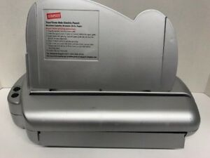 Staples Eco punch Electric Punch 2 3 Hole Adjustable 30 sheet Capacity Used