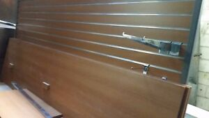 Slat Wall Shelf 20 Hooks 8 X 6 7 High Two Sided On Wheels No End Cap Shelf