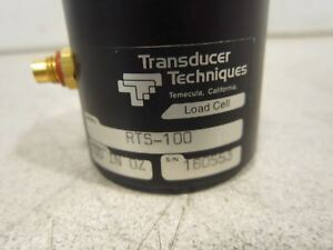 Transducer Techniques Load Cell Copacity 100 In Oz