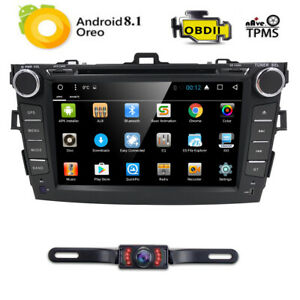 8 Android8 1 Car Stereo Dvd Player Radio Gps Fit Toyota Corolla 2010 2011 2012