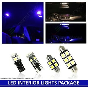 Blue Led Interior Lights Fits Cadillac Escalade Ext 2007 2014 16 Bulb