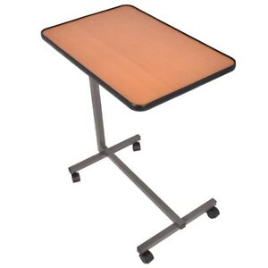 Over Bed Food Tray Small Rolling Writing Computer Table Pc Laptop Desk House New