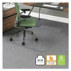 Office Impressions 36 X 48 Chair Mat 10 Lip Office Carpet Floor Mat Clear