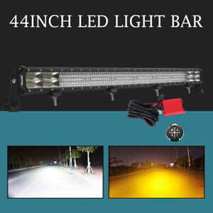 10d Osram 44inch 5040w Quad Row Len Led Light Bar Combo Driving Truck Ford 36