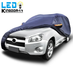 15ft Universal Fit Waterproof Car Cover Dust Resistant In outdoor Suv Protection