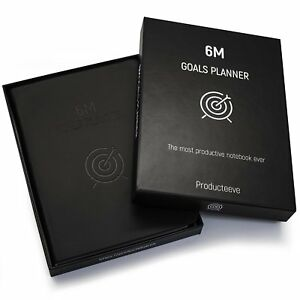 6m Goals Planner Beautiful Undated Agenda Daily And Weekly Journal To Achiev