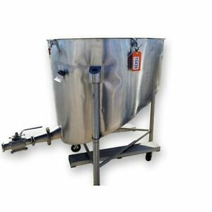 Used Stainless Steel Slant Bottom Tank