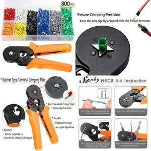 Sopoby Ferrule Crimping Tool With 800pcs Wire Ferrule Terminals Kit Insulated 0