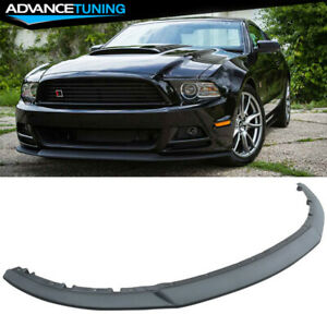 Fits 13 14 Ford Mustang V6 Gt R Style 3pc Front Bumper Lip Spoiler Injection Pp