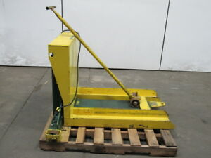 Southworth Pztu285 2000lb Capacity 80 Pallet Container Hopper Tilt Table 115v