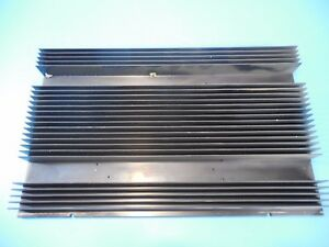 Black Anodized Aluminum Heatsink 390mm X 250mm X 34mm
