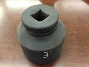 3 Inch Impact Socket 1 Square Drive 6 Point Standard