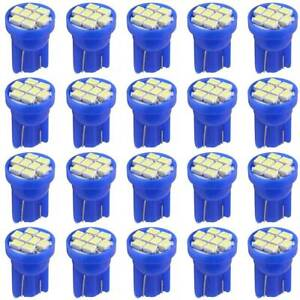 20x Ice Blue T10 2825 194 8smd Led Interior Dome Instrument Dash Lights Bulb 158