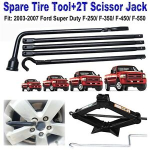 2002 15 Dodge Ram 1500 Spare Tire Lug Wrench Tool For Replacement Scissor Jack