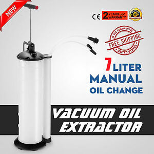 Manual 7liter Oil Changer Vacuum Fluid Extractor Pump Tank Remover Car New Oy