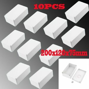 10x Waterproof Electronic Junction Project Box Enclosure Case 200x120x75mm Oy