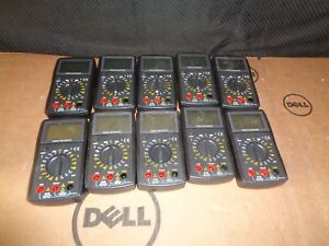 Digital Multimeter Lot Of 10 no Accessories