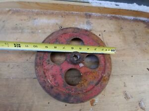 Antique Iron Hit Miss Steam Engine Pulley Gear International Model 10 Round