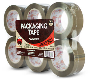 Red Frog 2 2mil 1 88 X 110 Yards Tan brown Low Noise Packaging Packing Tape