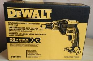 Dewalt Dcf620b 20 volt Max Xr Li ion Brushless Drywall Screwgun Baretool