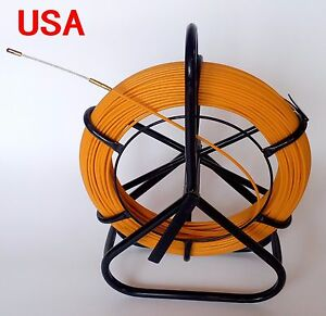 Fish Tape Fiberglass Wire Cable Duct Rodder Fish Holder Push Rod Duct 4 5mm