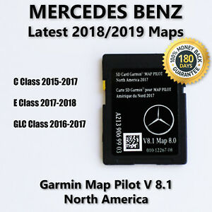 2015 2017 Mercedes Benz Sd Card Gps Navigation Glc E C Class Garmin Map Pilot