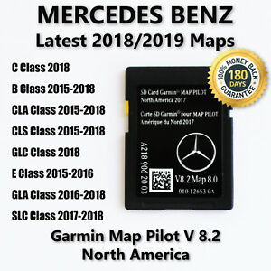 Mercedes Benz Cla Cls Gla Slc B E Class 2018 Navigation Sd Card Garmin Map Pilot