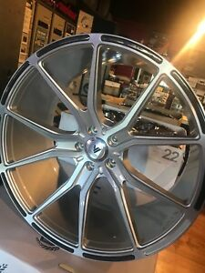Asanti Abl 13 One Set Of Staggered 22 Brushed Silver W Carbon Fiber Inserts