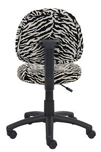 Boss Office Products Zebra Perfect Posture Delubye Modern Home Office Chair With