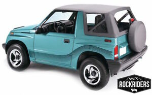 88 94 Suzuki Sidekick Geo Tracker Vitara Soft Top With Clear Windows Black Denim