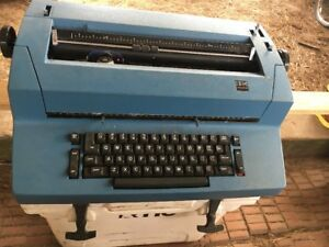 Vintage Ibm Correcting Selectric Ii Blue Electric Typewriter