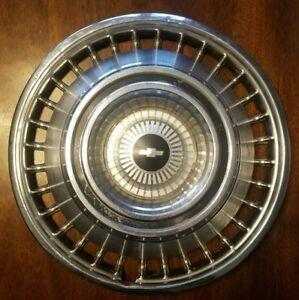 One Genuine 1964 Chevy Impala Hubcap Wheel Cover