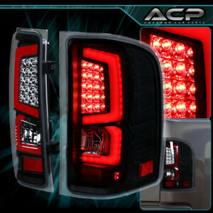 Led Black red Lens Rear Tail Lights For 2007 2013 Chevy Silverado 1500 2500 3500