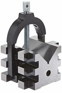 Fowler 52 475 555 Hardened Steel V block Set 2 Clamping Capacity 2 H X 2 25