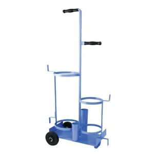 Uniweld 503 Metal Carrying Stand With Wheels For B Tank And R oxygen Tank