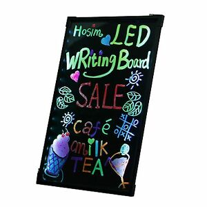 16x24 Flashing Led Illuminated Writing Board Fluorescent Sign Message Dry Erase