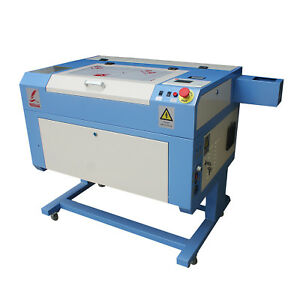 Mini 60w Co2 Laser Engraving Cutting Machine 500 300mm With Water Pump