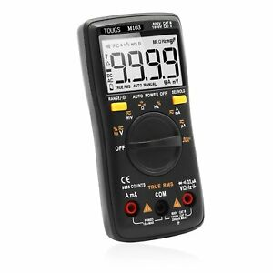 True rms Digital Multimeter Auto ranging 9999 Counts Pocket Multi Tester With