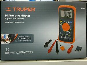 Mut 105 Professional Digital Multimeter Truper With Accessories