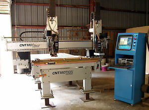 Cnt Motion 1000 With Dual 10 Hp Spindles Cnc Router Automatic Tool Changers